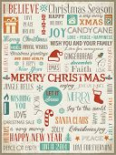 Christmas Background With Typography