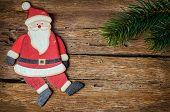 Santa Claus Decoration On Wood