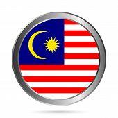 Malaysia Flag Button.