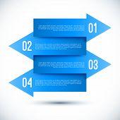 Modern business infographics arrow template.