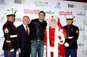 LOS ANGELES - DEC 1:  Daniel Goddard, Santa Claus, Marines at the 2013 Hollywood Christmas Parade at
