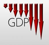pic of macroeconomics  - Chart illustrating Gross Domestic Product drop macroeconomic indicator concept - JPG