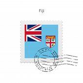 Fiji Flag Postage Stamp.