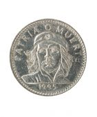 Cuban Peso Coin With Portrait Of Ernesto