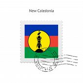 New Caledonia Flag Postage Stamp.