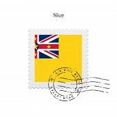 Niue Flag Postage Stamp.