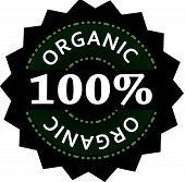100% Organic Label, Vector