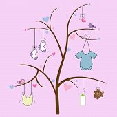 Baby Items on Tree