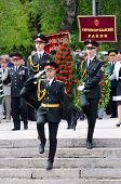 :Ceremonial parade at Alley of Glory dedicated to 69th Anniversary of victory in Great Patriotic War