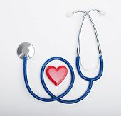 Stethoscope And Heart Shaped Object