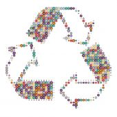 Recycle Colors White