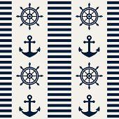 Nautical Seamless Pattern. Vector Illustration.