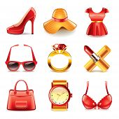 Fashion And Shopping Icons Vector Set