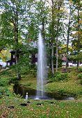 fountain in park, Czech Republic, Europe