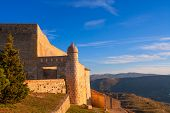 Morella in castellon Maestrazgo castle fort at Spain