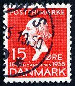 Postage Stamp Denmark 1935 Hans Christian Andersen, Writer