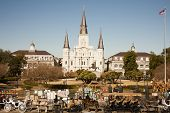 St Louis Cathedral with Tourists
