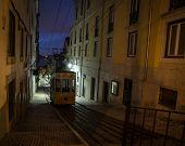 funicular lisbon at night