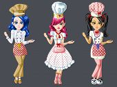 Cute Chef Girls Character