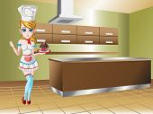 Chef Girl in Kitchen