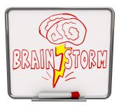 Brainstorm - Dry Erase Board With Red Marker