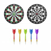 Paper Cut Of Dartboard With Target Icon Is Isolated For Competition And Leisure On White Background