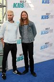 LOS ANGELES - MAY 10:  Adam Levine, James Valentine at the 2014 Wango Tango at Stub Hub Center on May 10, 2014 in Carson, CA