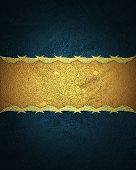Blue Background With Gold Nameplate With Gold Trim.