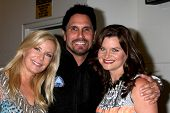 LOS ANGELES - MAY 6:  Kathering Kelly Lang, Don Diamont, Heather Tom at the Bold & Beautiful Celebra