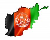 Afghan Flag Map