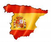 Spanish Flag Map