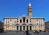 Rome, Itali 14Th April 2014. Visiting The Papal Basilica Of Santa Maria Maggiore.