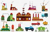 stock photo of bio-hazard  - Vector illustration of simple colorful factory symbols - JPG