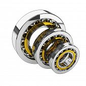 ball-bearing 3d on white background