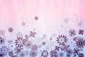 Digitally generated girly floral design in pink