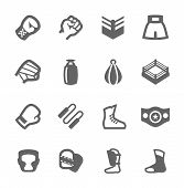picture of boxing ring  - Simple Set of Boxing and fighting Related Vector Icons For Your Design - JPG