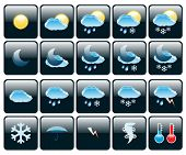 Set of Icons on a theme Weather. Illustration. Vector. EPS10