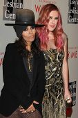 LOS ANGELES - MAY 10:  Linda Perry, Rumer WIllis at the L.A. Gay & Lesbian Center's