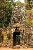 Ancient gates of Angkor Thom in Angkor Wat complex, Siem Reap, Cambodia