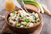 image of peas  - Salad with rice - JPG