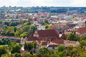 Top view panorama of Vilnius old town, LIthuania