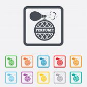 pic of fragrance  - Perfume bottle sign icon - JPG