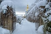 winter monastery Lavra