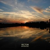 Abstract Background - Vector Image - Sunset in Hungary