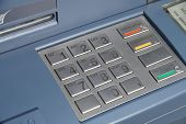 ATM keyboard or keypad cash machine - banking numbers