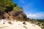 Blue Seascape Rocky Bay