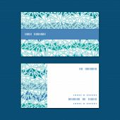 Vector abstract ice chrystals texture horizontal stripe frame pattern business cards set