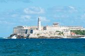 The famous castle of El Morro in Havana  on a beautiful clear day
