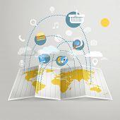 World trade abstract scheme. Design elements