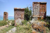 Armenian Landscape With Khachkars
